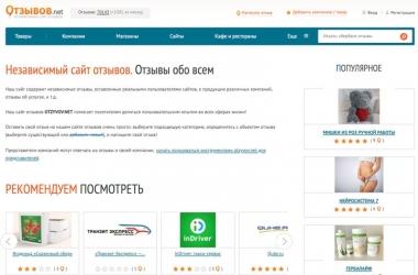 Сайт отзывов Otzyvov.net