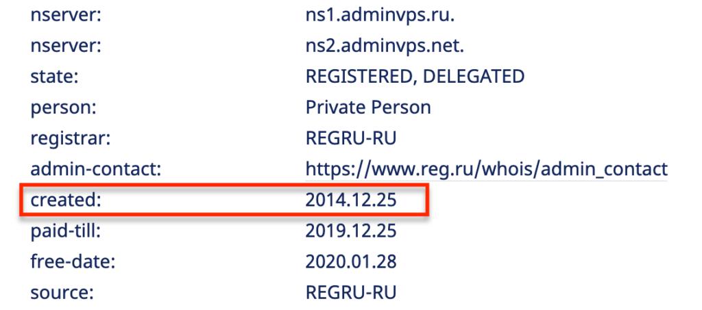 Влияние года создания домена на продвижение сайта